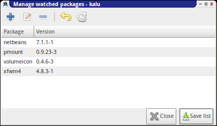 kalu: Manage Watched Packages